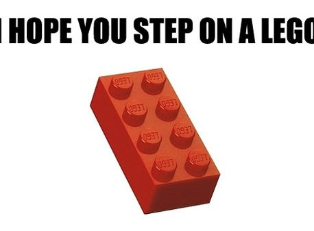 "What do you do when you ""step on a Lego®""?"